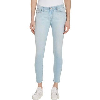 Mother Womens Looker Skinny Jeans Ankle Crop Raw Hem