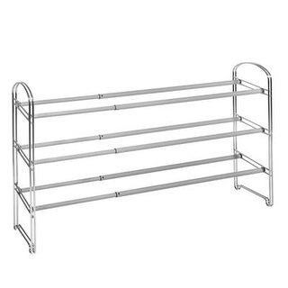 Seville Classics Closet Organization 21-Pair Expandable 3-Tier Shoe Rack