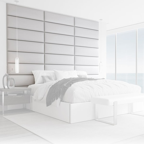 VANT Upholstered Headboards - White Dove - 39 Inch - Set of 4 panels.. Opens flyout.