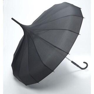 "Unisex Adult Pagoda Umbrella - Black - 34"" Span"