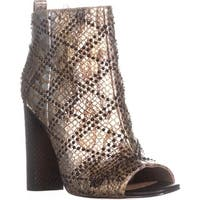 Calvin Klein Jules Peep Toe Ankle Booties, Gold - 8 us / 38 eu