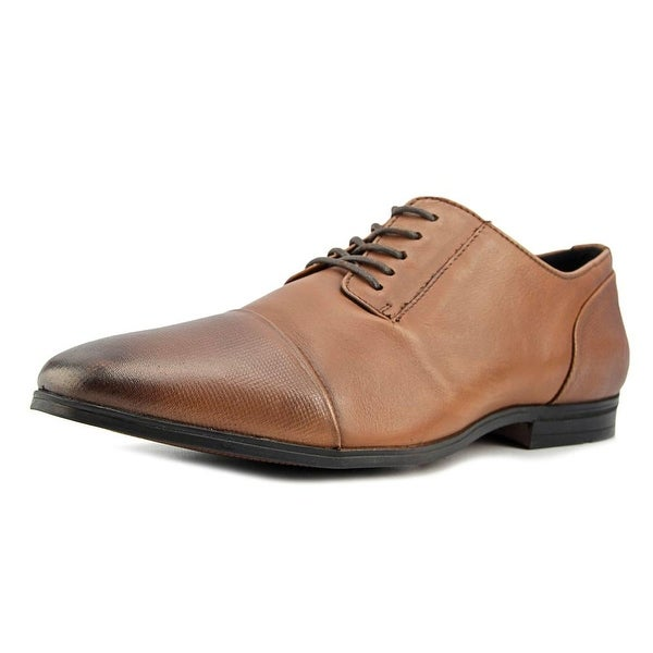 Alfani Monroe Cap Toe Men Tan Oxfords