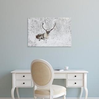 Easy Art Prints Hugh Rose's 'A Small Group Of Caribou' Premium Canvas Art