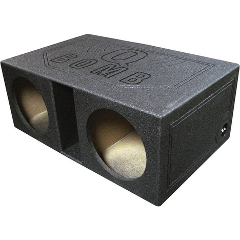 """Qpower Dual 12"""" Vented Extra Large SPL Woofer Box """"Q Bomb"""""""