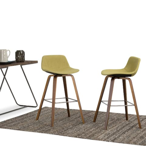 WYNDENHALL Cacey Mid Century Modern Bentwood Counter Height Stool (Set of 2) - 20.7'' x 21.1'' x 36.6