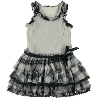 Ermanno Scervino Girls Casual Dress Plaid - 8