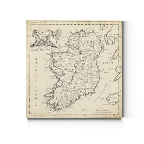 Map of Ireland -Premium Gallery Wrapped Canvas