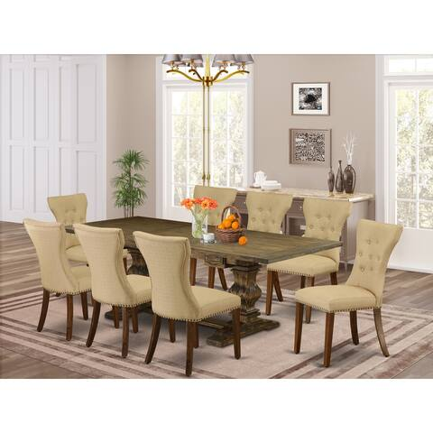 East West Furniture This is magnificent kitchen dinning sets with rectangle table and parson chairs