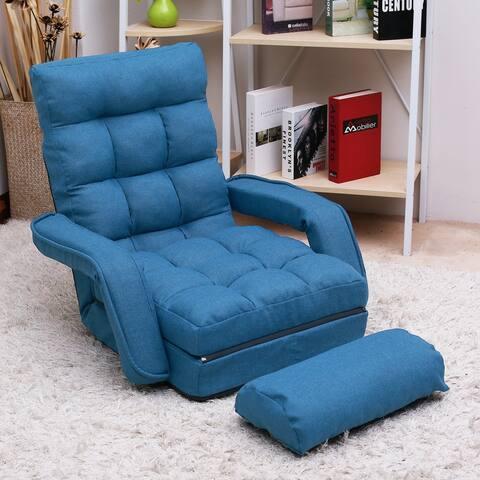 TiramisuBest Folding Lazy Sofa Floor Chair Sofa Lounger Bed