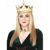 Golden Queen Adult Costume Crown - Gold
