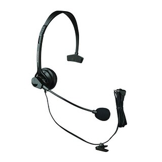 Panasonic KX-TCA60 Over The Head Headset With Noise-Cancelling Microphone New