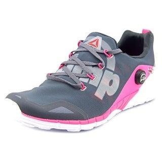 Reebok rf Women Round Toe Canvas Gray Running Shoe