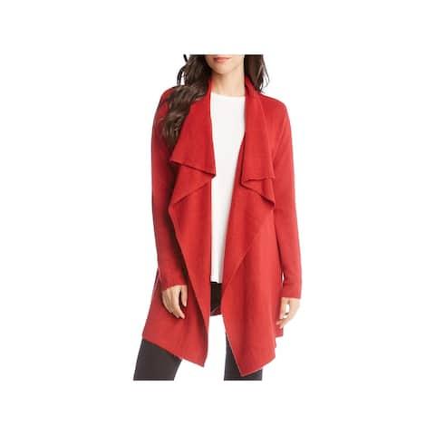 Karen Kane Womens Cardigan Sweater Drapey Long Sleeves