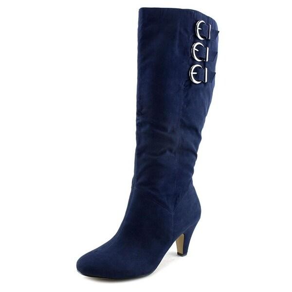 c486cc3b052 Bella Vita Transit II Plus Women Square Toe Suede Blue Knee High Boot