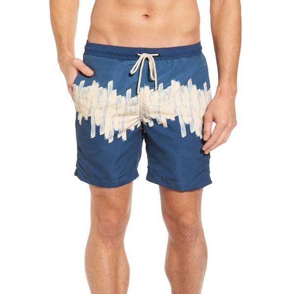 b335c5c5ef346 Shop Vestige Men's 3 Block Swim Trunks X-Large XL Tan and Blue ...
