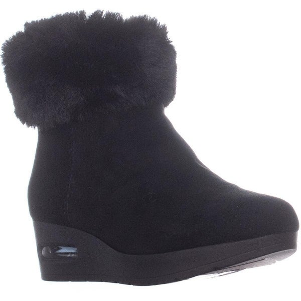 d2ab1e445c7 Shop DKNY Aron Zip Up Wedge Ankle Boots, Black - Free Shipping Today ...