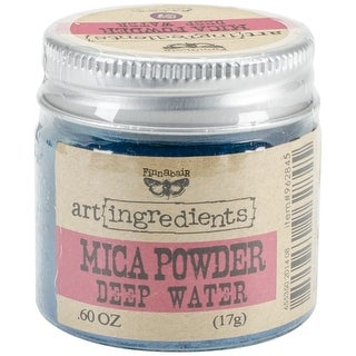 Finnabair Art Ingredients Mica Powder .6oz-Deep Water