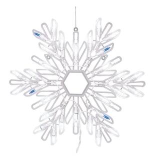 "Celebrations 24404B11 LED Bi-Colored Twinkle Snowflake, 15"", Blue & White