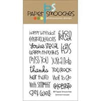 "Sentiment Sampler - Paper Smooches 4""X6"" Clear Stamps"