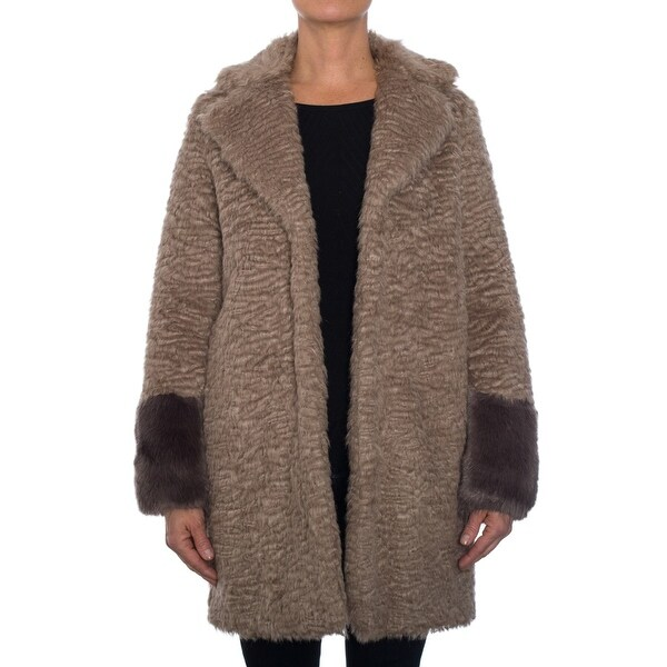 Laundry by Shelli Segal Faux Fur Coat with Collar