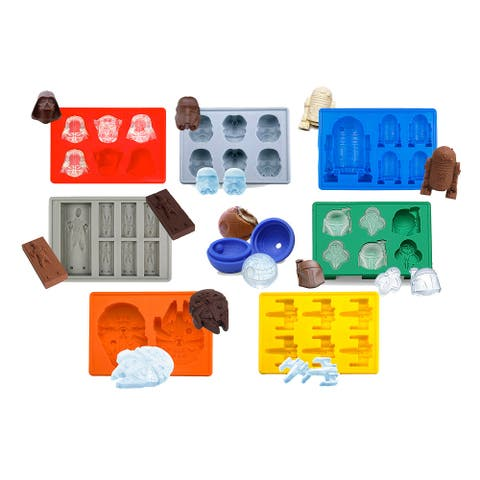 Set of 8 Star Wars Ice Trays Cube Chocolate Candy Jello Silicone Molds Kid Fun
