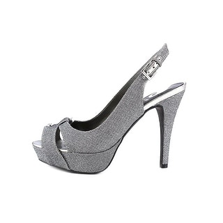 G By Guess Cathy Open Toe Canvas Platform Sandal