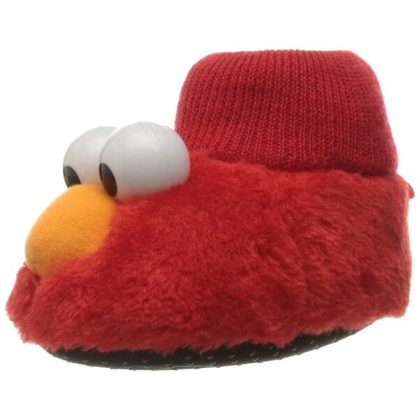 9bf730a8155 Sesame Street Elmo Cookie Monster Boys Girls Sock Top Slippers (Toddler  Littl.