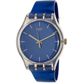 Swatch Men's Magies D'Hiver SUOK126 Blue Rubber Swiss Quartz Dress Watch