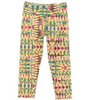 Onzie Womens Flat Front Printed Capri Pants