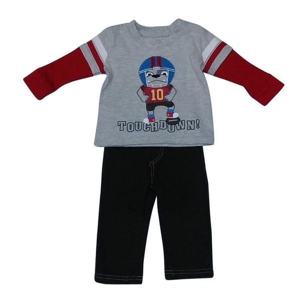 American Character Baby Boys Grey Football Detail 2 Ps Pant Set