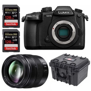 Panasonic GH5 Lumix 4K Mirrorless 20.3 MP Camera with 12-35mm Lens and Bundle