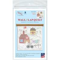 "Stamped White Wall Or Lap Quilt 36""X36""-Country Quilts"