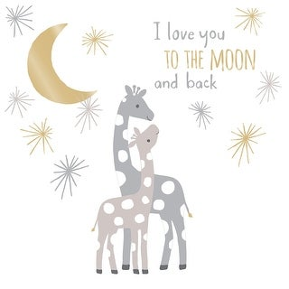 Lambs & Ivy Signature Moonbeams I Love You to the Moon and Back Celestial Giraffe Nursery Wall Decals/Appliques