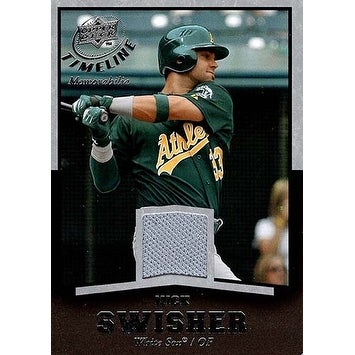 Signed Swisher Nick Oakland Athletics Unsigned Nick Swisher 2008 Upper Deck Timeline Baseball Jerse