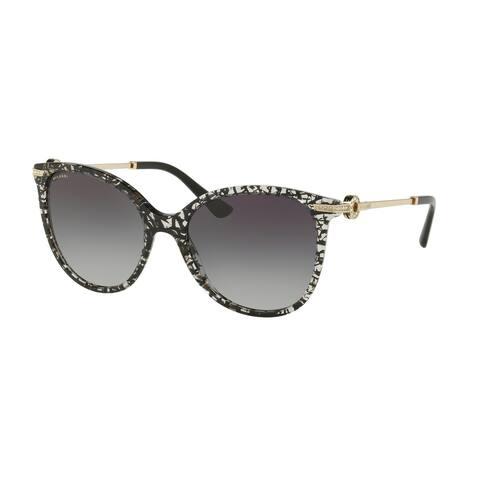 Bvlgari BV8201B 53768G 55 Black San Pietrino Woman Cat Eye Sunglasses