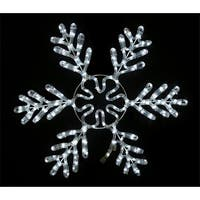 Queens of Christmas  24 in. Pure White Ropelit Snowflake Ice Light
