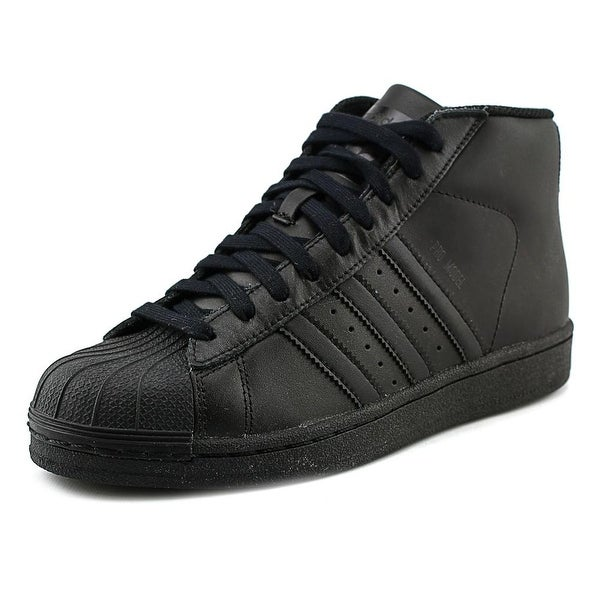 Adidas Pro Model J Round Toe Leather Sneakers