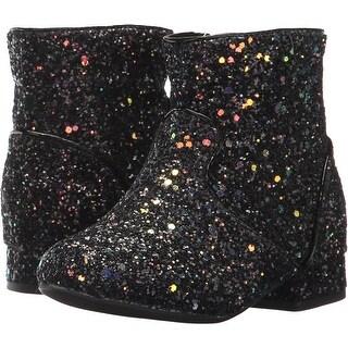 Nina Girls amy Mid-Calf Zipper Platform Boots, Black chuncky, Size 2M