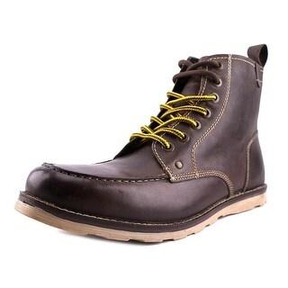 Crevo Buck Men Moc Toe Leather Brown Boot
