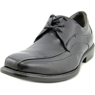 Johnston & Murphy Tilden Men W Bicycle Toe Leather Black Oxford