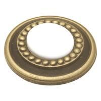 "Hickory Hardware P953 Cavalier 1-1/4"" Diameter Mushroom Cabinet Knob - White"