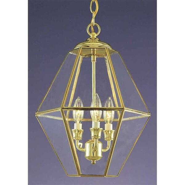 Volume Lighting V5022 3 Light 17 Height 1 Tier Chandelier With Clear Beveled Gl