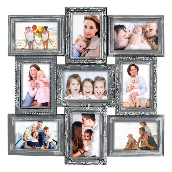 HELLO LAURA 9 Opening Decorative Wall Hanging Collage Puzzle Picture Photo Frame
