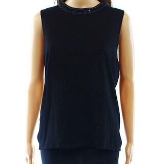 New York City Design Co. NEW Navy Blue Women's XL Tunic Silk Sweater