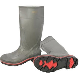 Servus 617-75102-GYM-090 Size 9, PRO Gray 15 in. PVC Knee Boots