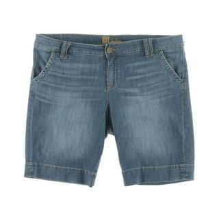 Kut From The Kloth Womens Denim Faded Bermuda Shorts