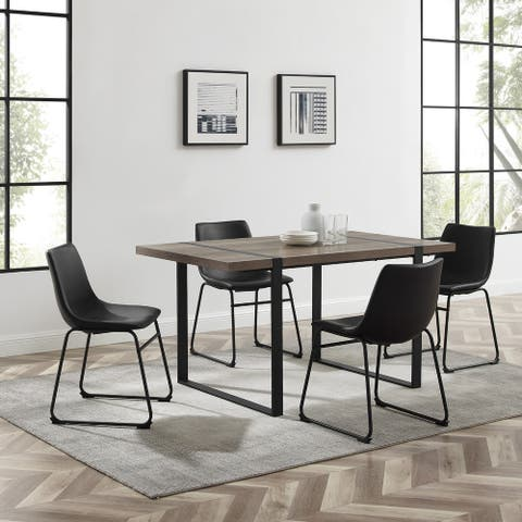 5-piece Urban Blend Modern Industrial Dining Set
