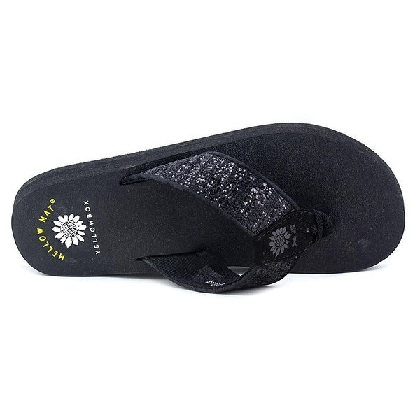 Yellow Box Womens Mercedes Canvas Open Toe Beach Slide Sandals