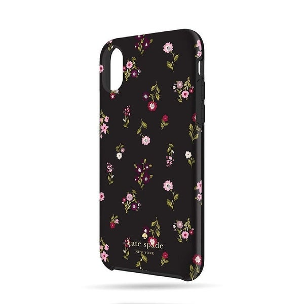 finest selection c0ec8 280d1 Kate Spade New York Spriggy Floral Protective Hardshell Case for iPhone X /  iPhone Xs- Multi/ Black/ Gems