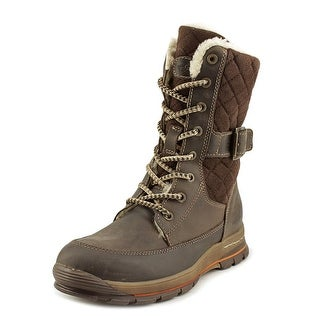 Bos & Co Greer Women Round Toe Canvas Brown Winter Boot